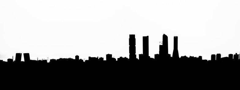 Skyline en blanco y negro
