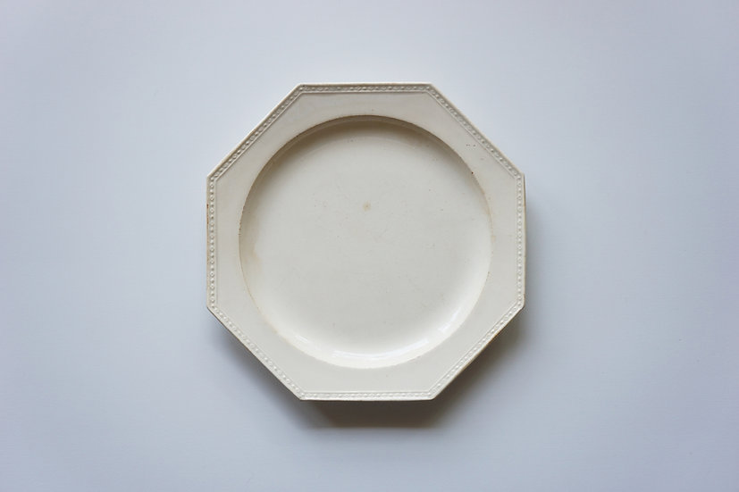 Octagonal Dish / Creil / -1820 FRANCE