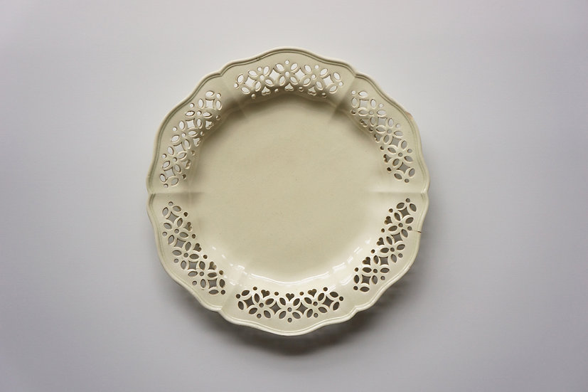 Creamware Dish / Leeds / 1780-1810 ENGLAND