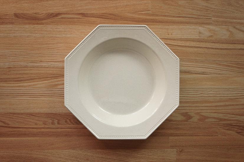 Octagonal Deep Plate / Creil et Montereau / 26cm [3]