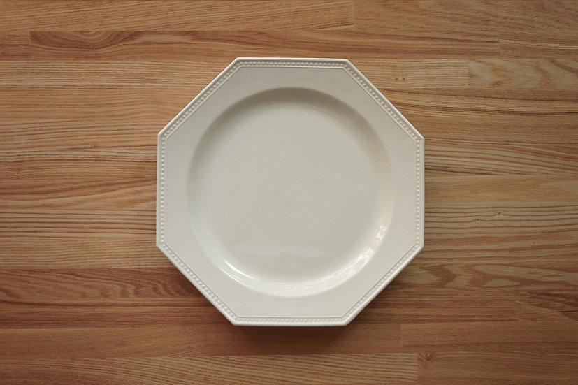 Octagonal Shallow Plate / Creil et Montereau / 26cm [2]