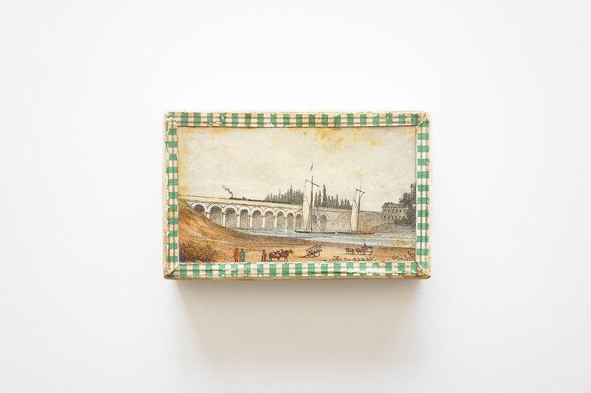 Handmade Cardboard Box / c.1890 FRANCE