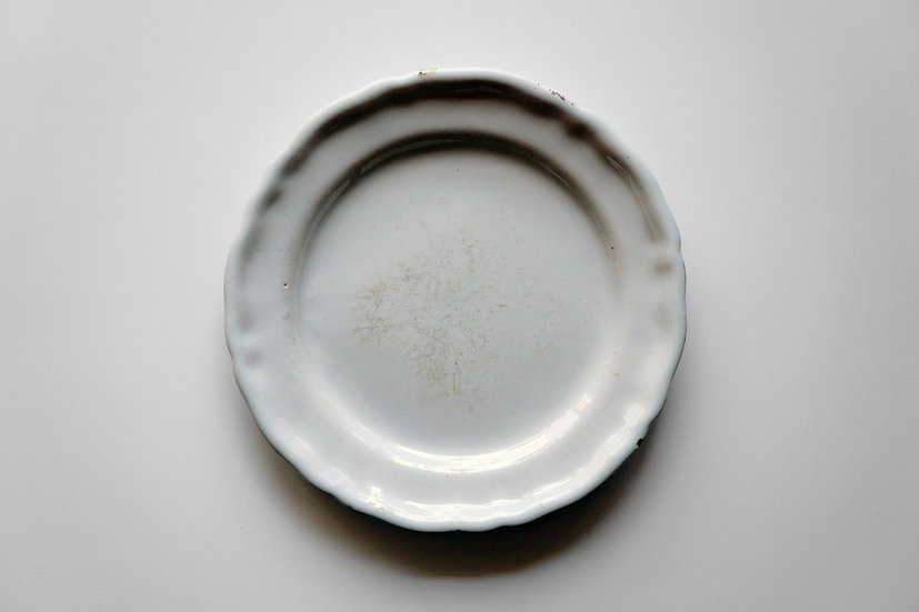 Round Dish / Moustiers or Varages / 1700s FRANCE