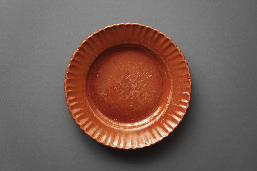 Sun Flower Plate / Giroussens or Auvillar / 1800s FRANCE