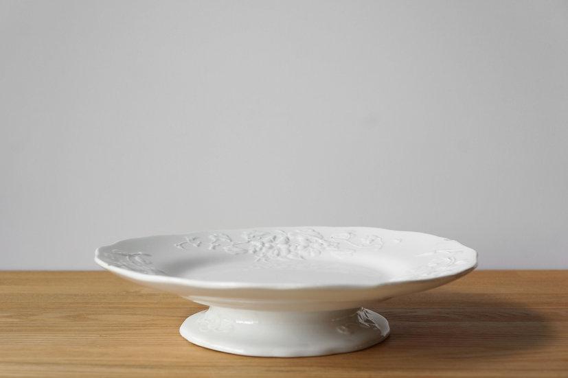 Rare Low Cake Stand / L.M & Cie Creil et Montereau /  1840-1876 FRANCE