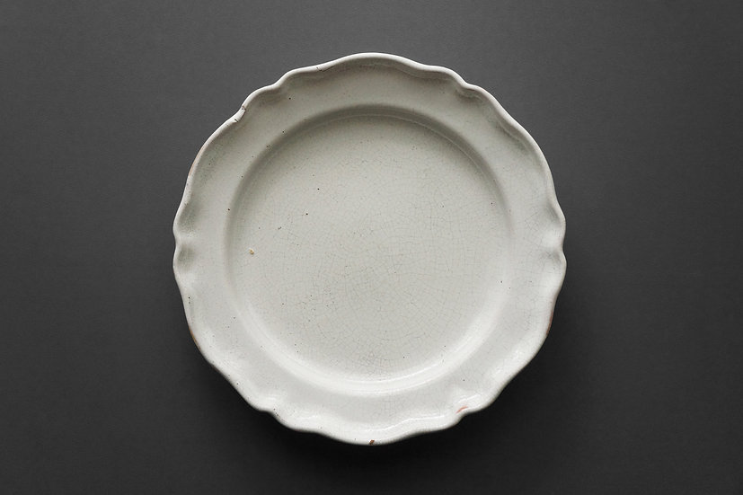 Flower Rim Plate / Faience / 1800s FRANCE