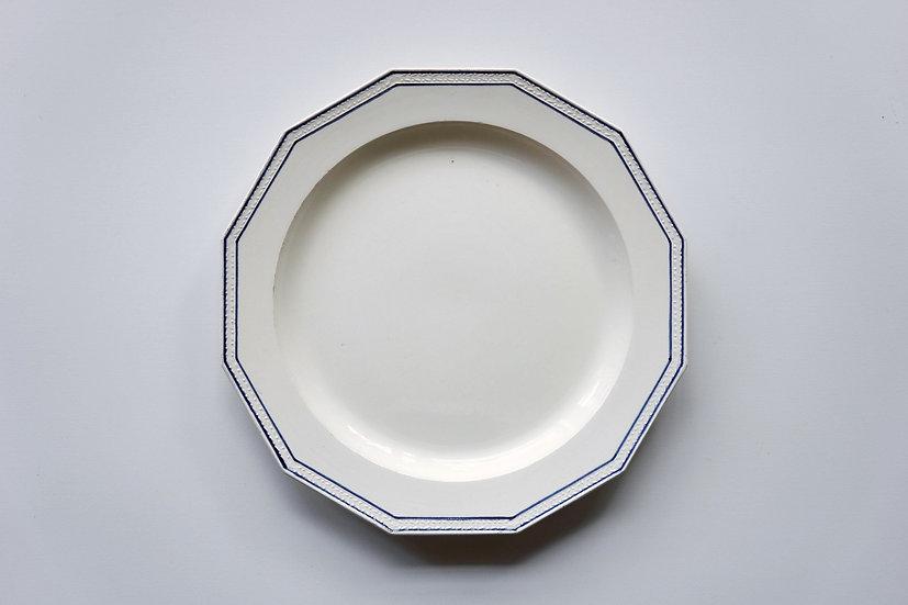 Rare Dodecagonal Plate / Creil / -1820 FRANCE