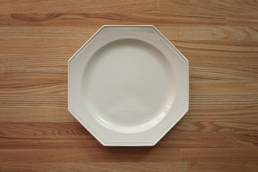 Octagonal Shallow Plate / Creil et Montereau / 26cm [3]