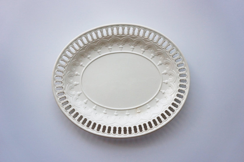 Creamware Basket Stand Plate / WEDGWOOD / 1810 ENGLAND