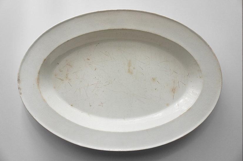 Large Oval Deep Plate / Choisy / -1820 FRANCE