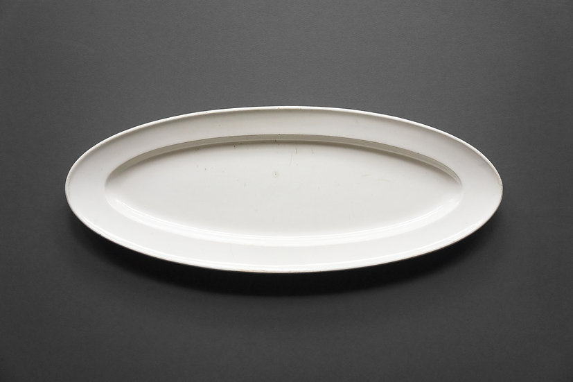 Rare Small Poisson Plate / Gien / 1834-44 FRANCE