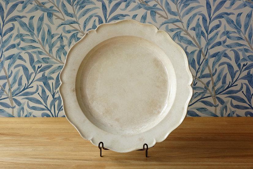 Creamware Flower Rim Plate
