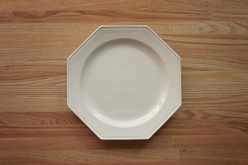 Octagonal Shallow Plate / Creil et Montereau / 26cm [4]