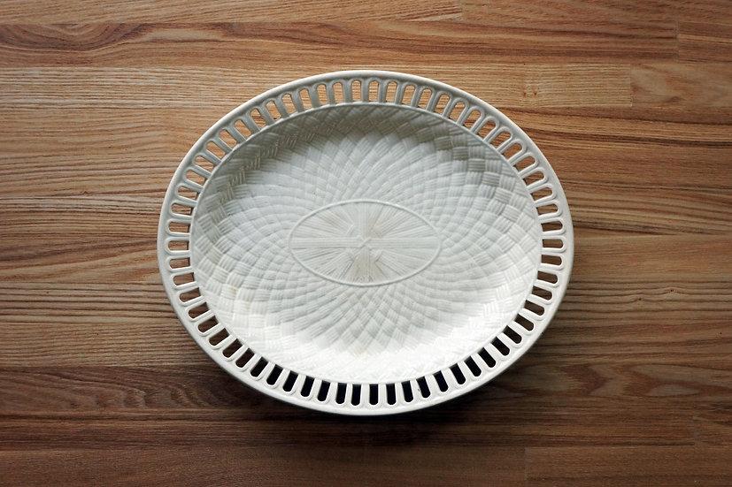 Basket Oval Plate / WEDGWOOD