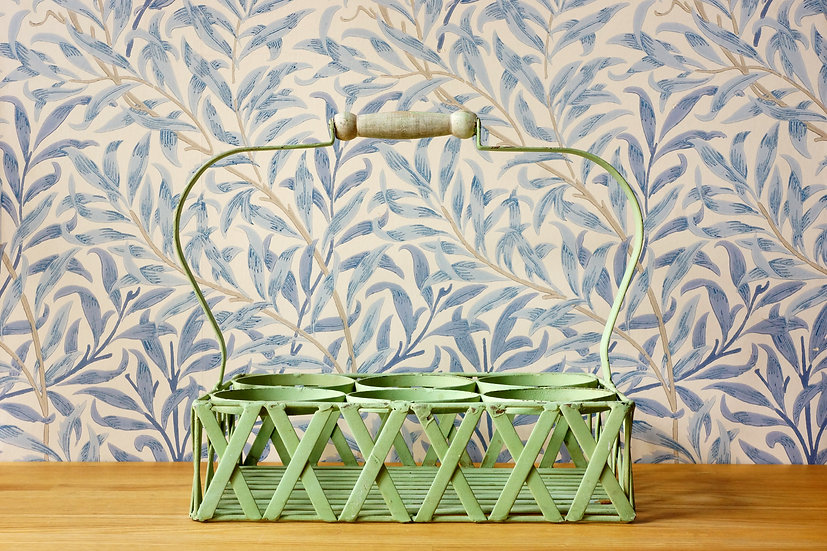 Vintage Wine Bottle Basket / 1930s FRANCE