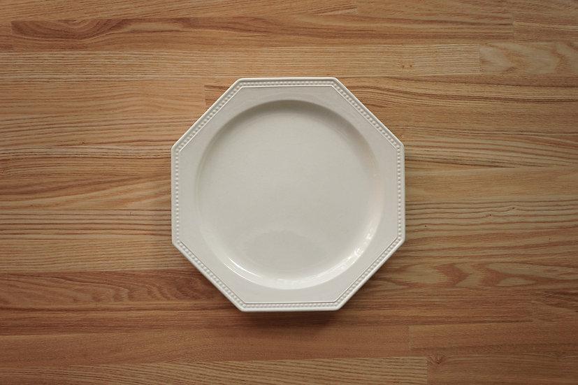 Octagonal Shallow Plate / Creil et Montereau / 21.6cm [2]