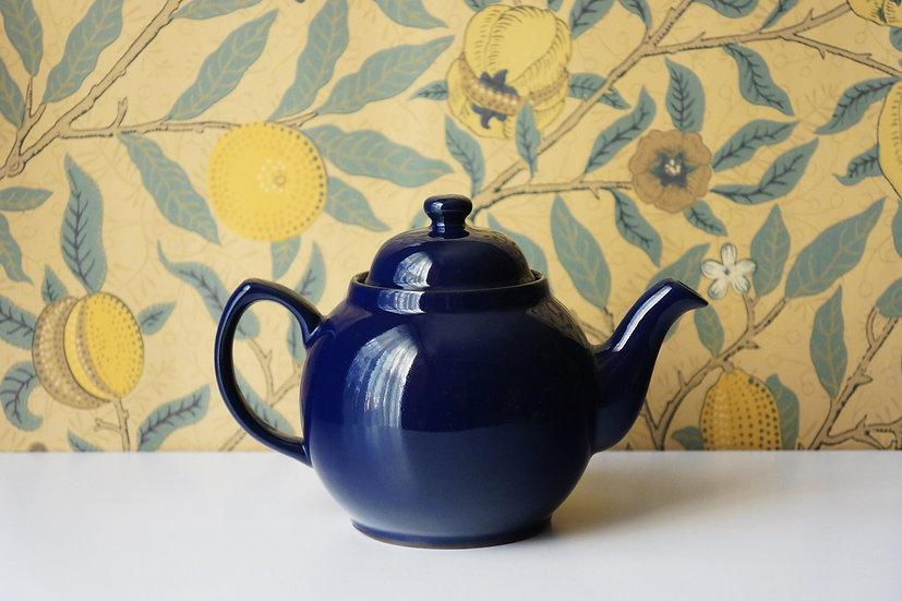 Original Betty Teapot / Adderley Ceramics / Cobalt Blue / ENGLAND