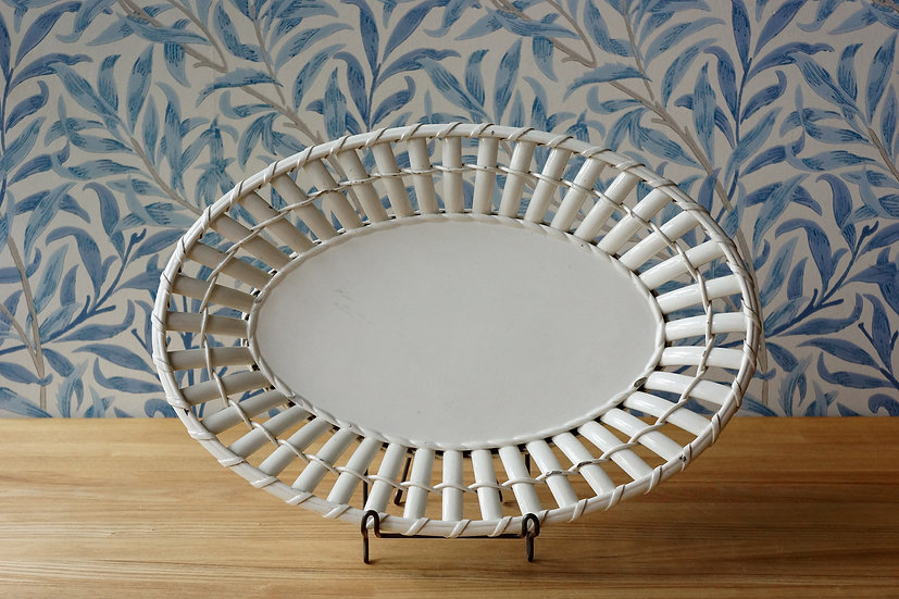Creamware Basket Plate / Creil