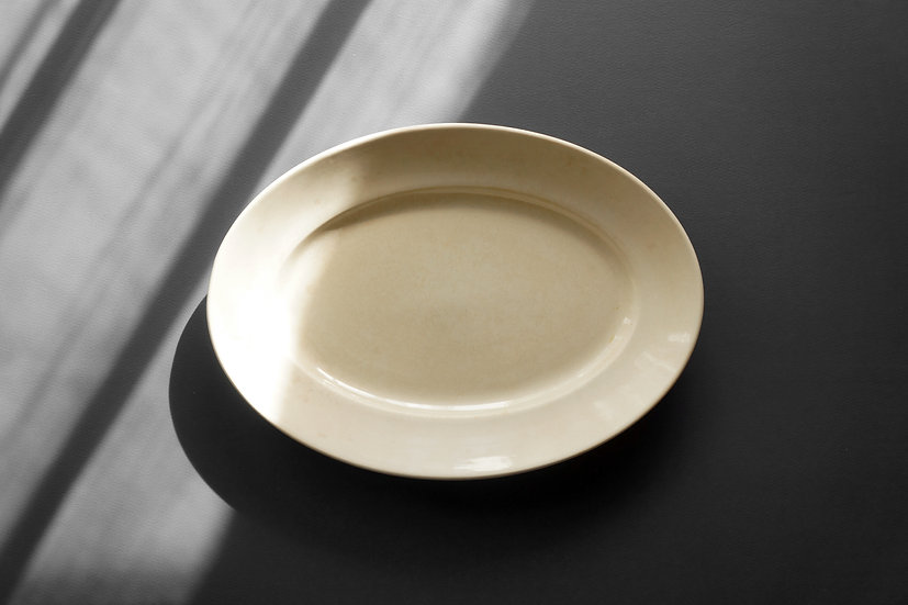 Small Oval Plate / Digoin & Sarreguemines / 1930s FRANCE