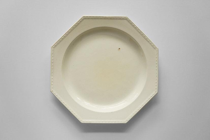 Octagonal Plate / Chantilly / 1790-1810 FRANCE