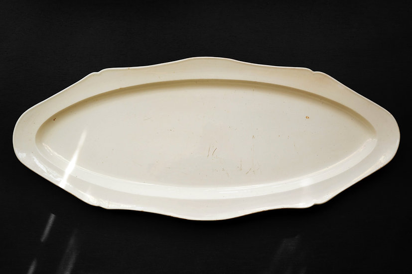 Rare Huge Poisson Plate / Probably Creil et Montereau / 1840- FRANCE