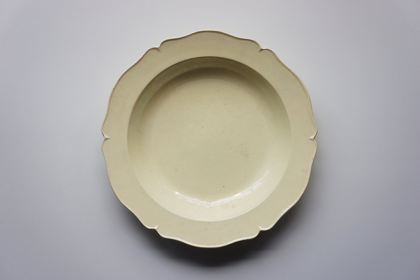 Flower Rim Deep Plate /  Mathieu & Co / -1820 FRANCE