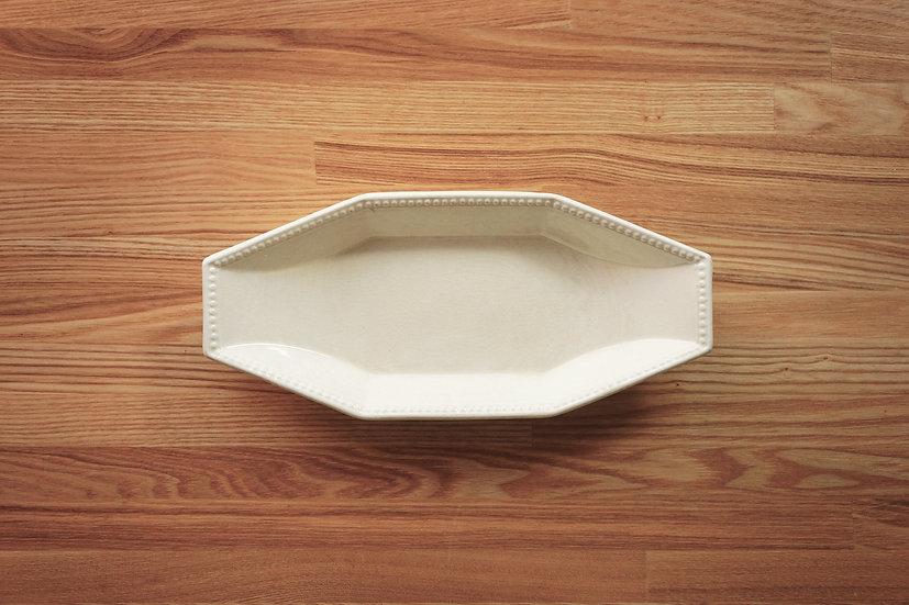 Octagonal Ravier Plate / Creil et Montereau