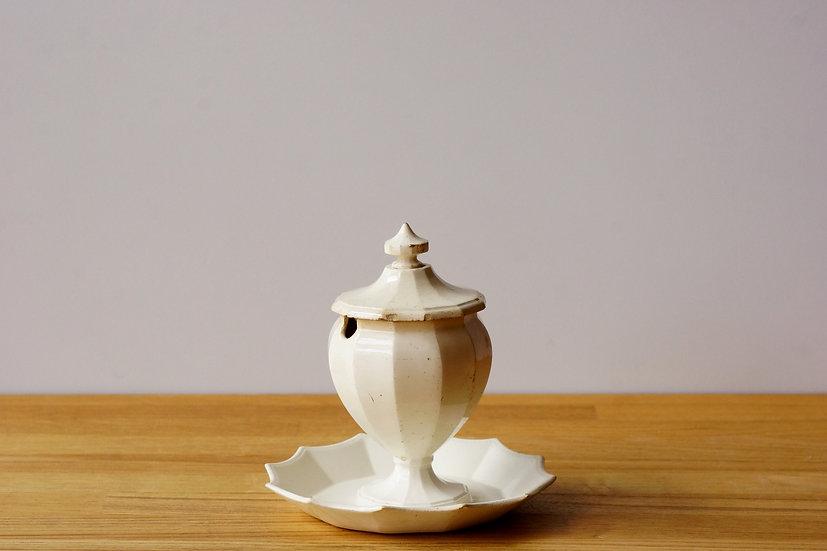 Rare Mustard Pot / Montereau / -1820 FRANCE