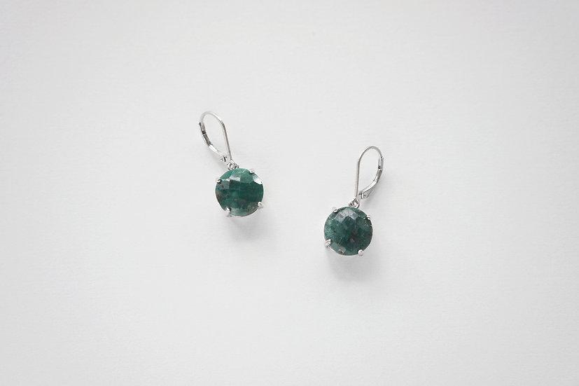 Vintage Earrings / Emerald, 925 Silver / -1980s CANADA