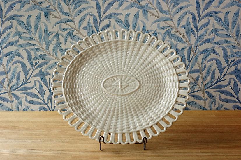 Creamware Basket Plate / Cheatham & Woolley