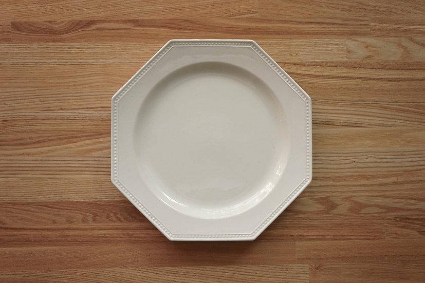 Octagonal Shallow Plate / Creil et Montereau / 26cm [5]