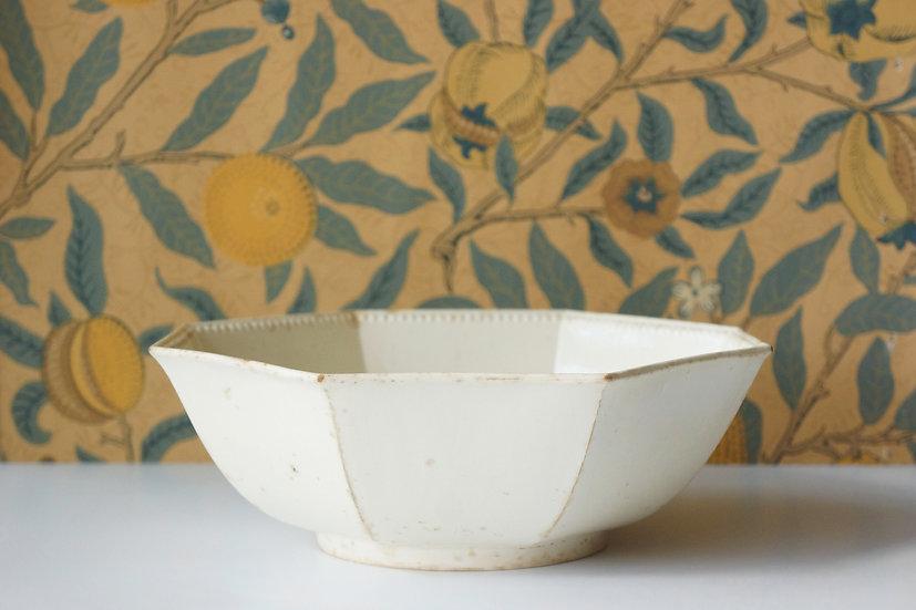 Salad Bowl / Faience Fine (probably Montereau) / c1820 FRANCE