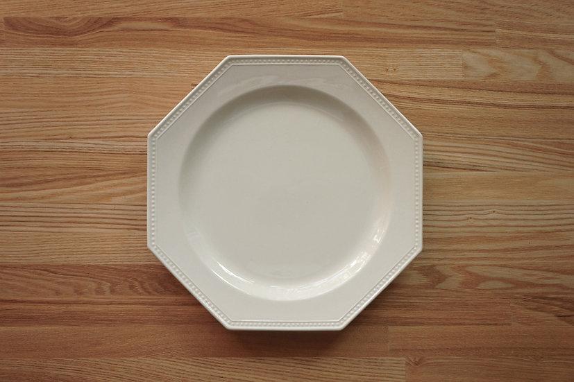 Octagonal Shallow Plate / Creil et Montereau / 26cm [8]