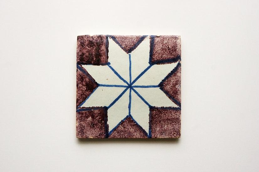 Rare English Delftware Tile / -1720 ENGLAND