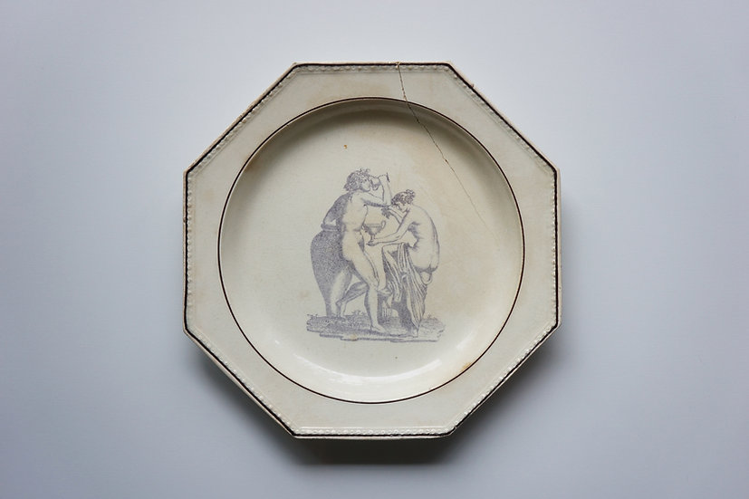 Octagonal Dish / Choisy / -1820 FRANCE