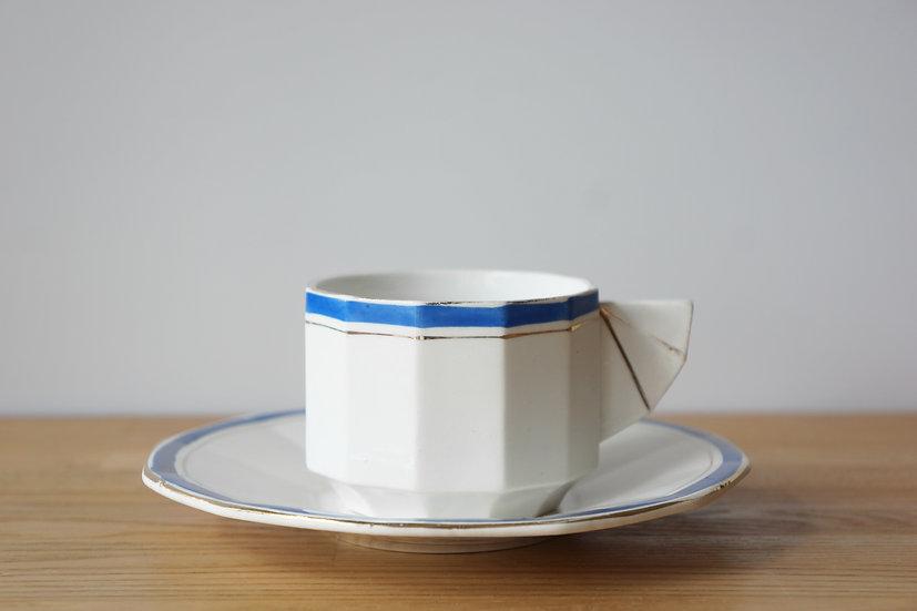 Coffee Cup & Saucer / Faïencerie d'Onnaing / -1930 FRANCE