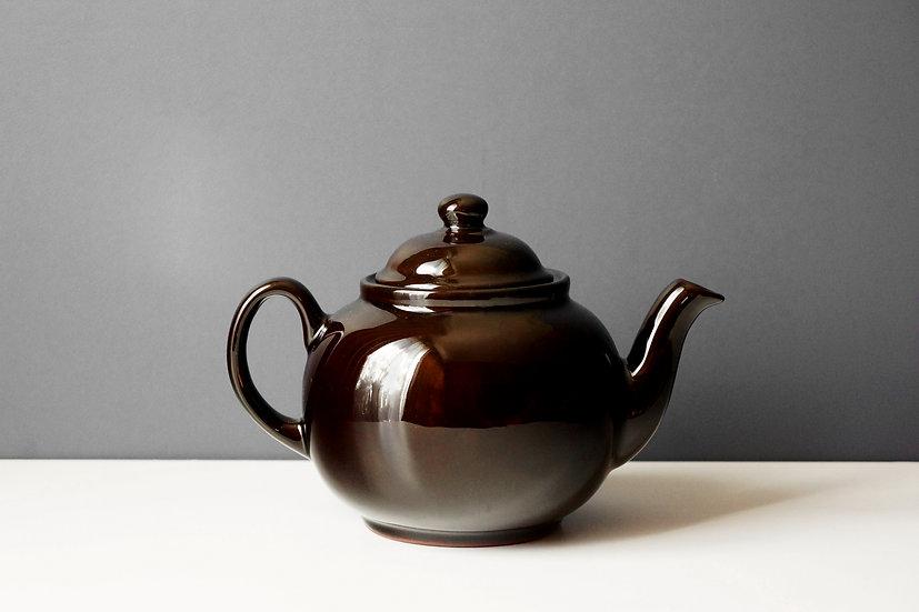 Brown Betty Teapot / Cauldon Ceramics / ENGLAND