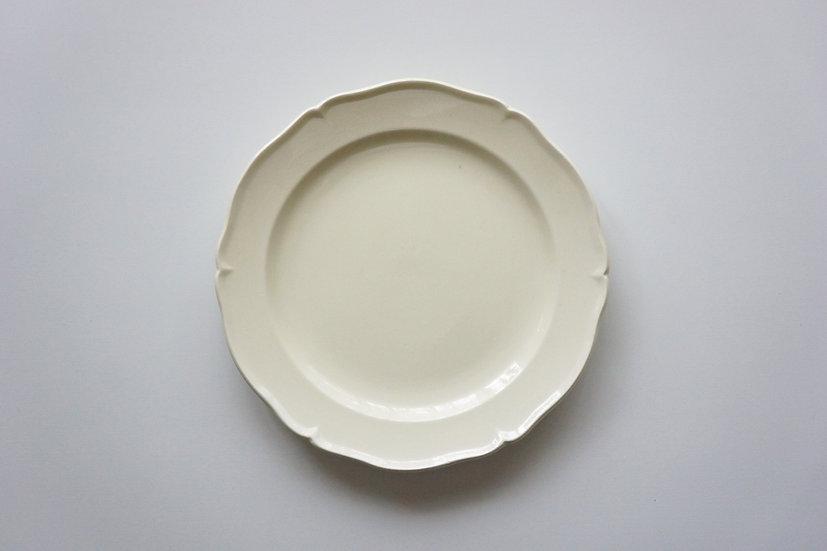 Flowe Rim Dish / Creil et Montereau / 1890-1910 FRANCE