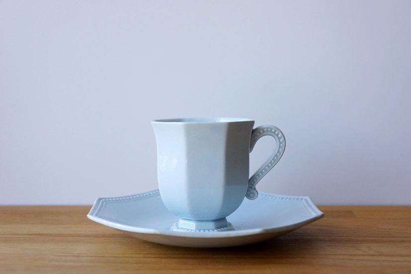 Coffee Cup & Saucer / Creil et Montereau / 1890-1910 FRANCE