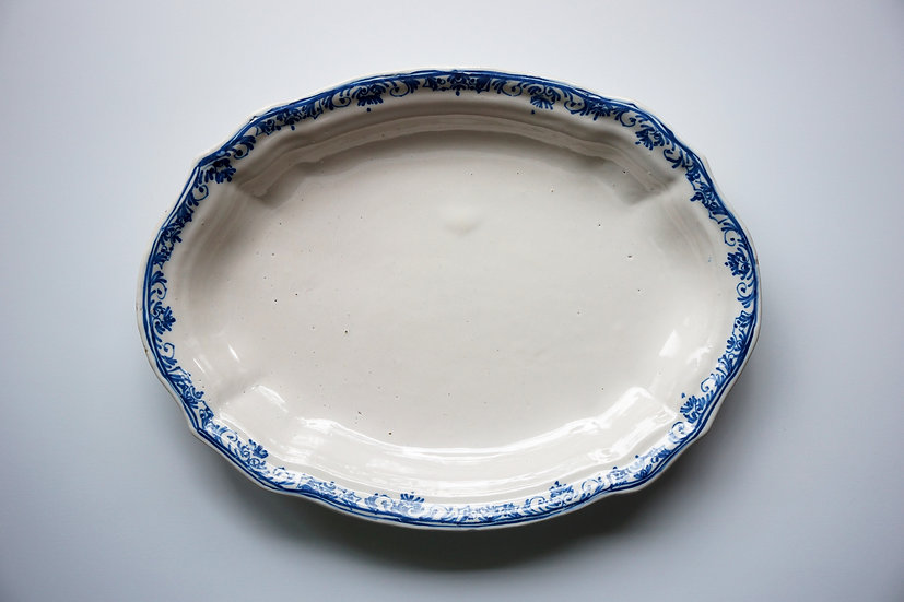 Oval Plate / Sud Ouest / 1700s FRANCE