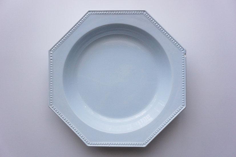 Octagonal Deep Large Plate / Creil et Montereau / FRANCE 1890-1910