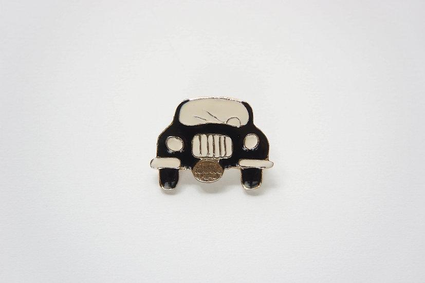 Vintage Enameled Car Brooch / 1980s FRANCE