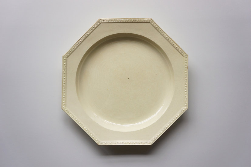 Rare Creamware Octagonal Plate / Staffordshir / Early1800s ENGLAND