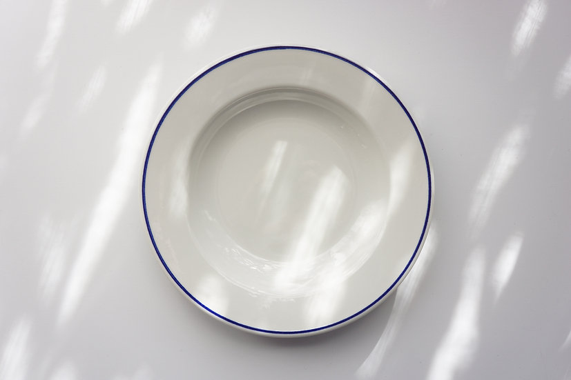 Porcelain Deep Plate / Sarreguemines / 1950's FRANCE