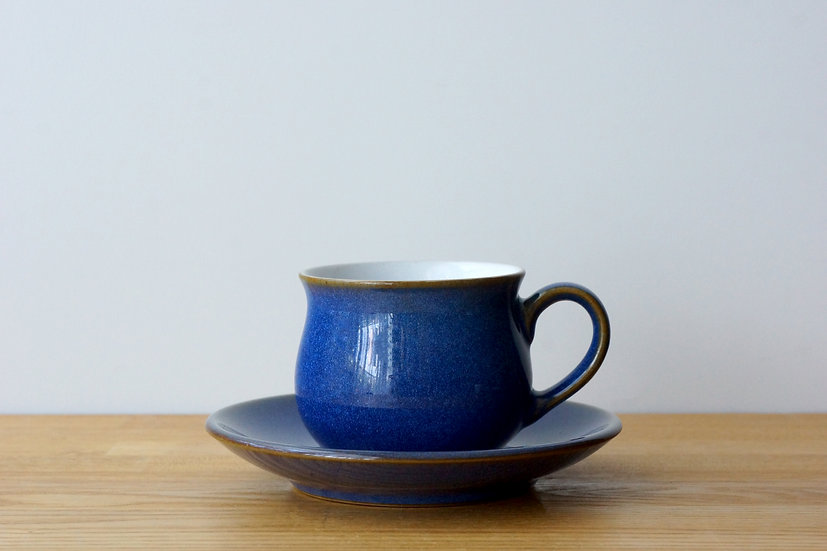 Vintage Small Cup & Saucer / Denby / 1980s ENGLAND