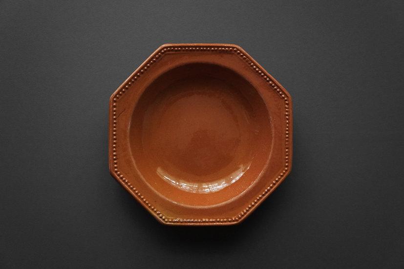 Octagonal Plate / Giroussens or Auvillar / 1800s FRANCE