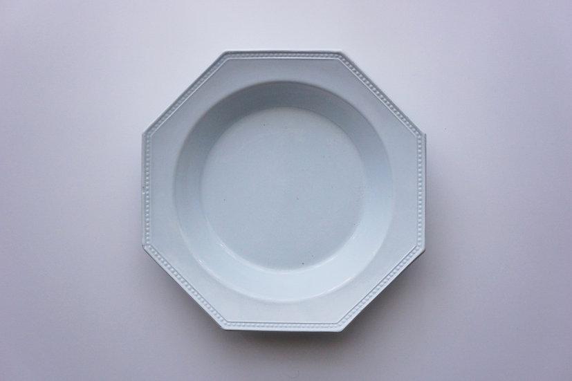 Octagonal Deep Plate / Creil et Montereau / FRANCE 1890-1910