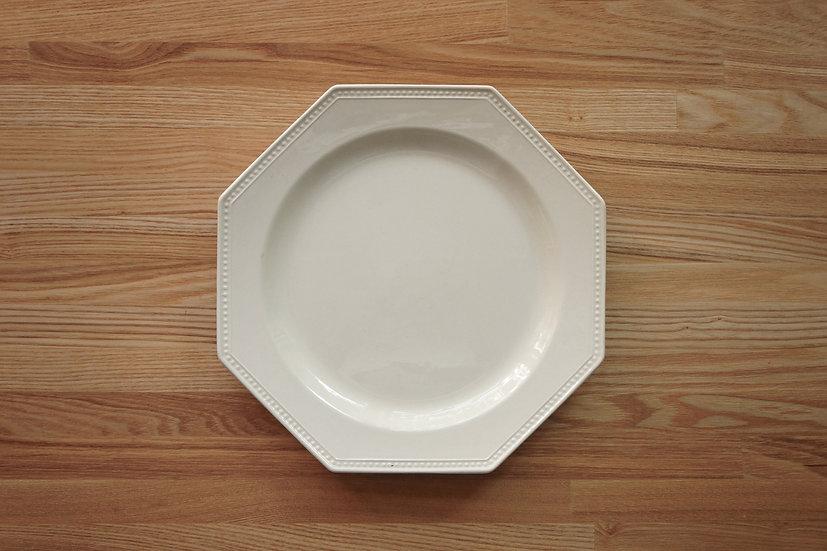Octagonal Shallow Plate / Creil et Montereau / 26cm [9]