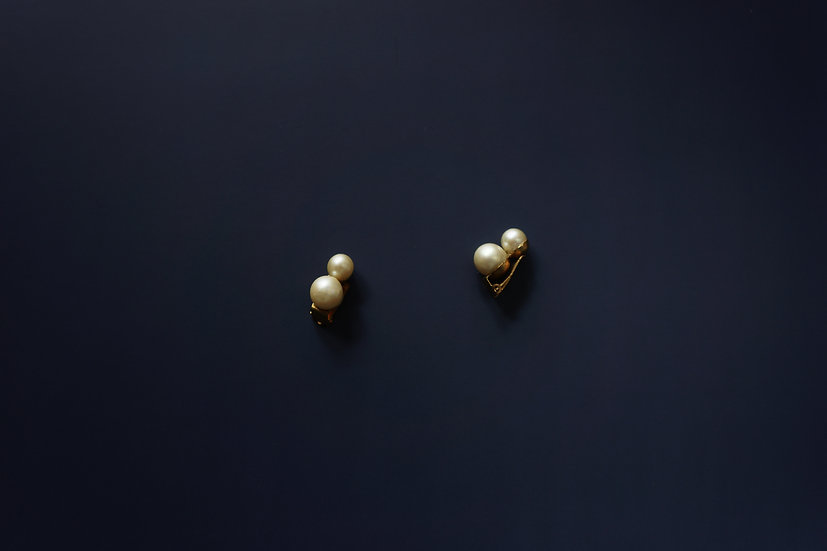 Vintage Faux Pearl Earrings / c1930 ENGLAND