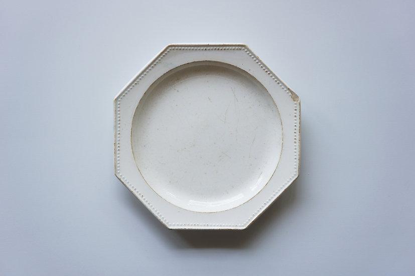 Octagonal Dish / Gien / -1820 FRANCE